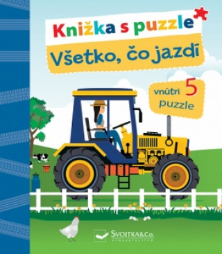 Knižka s puzzle Všetko, čo jazdí