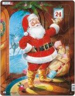 Puzzle MINI - Vánoční přání s obálkou/9 dílků