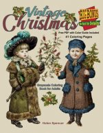 Vintage Christmas Grayscale Coloring Book for Adults: 41 Coloring Pages