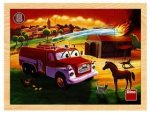 Tatra hasiči dřevěné puzzle