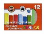 Souprava křídy školní barevené 12 ks