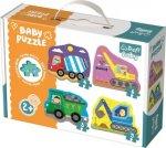 Baby puzzle Vozidla na stavbě 4v1