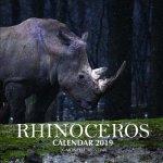 Rhinoceros Calendar 2019: 16 Month Calendar