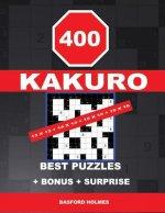 400 KAKURO 13 x 13 + 14 x 14 + 15 x 15 + 16 x 16 best puzzles + BONUS + surprise: Holmes presents to your attention the excellent, proven sudoku. Form
