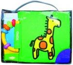Látková kniha s chrastítkem Žirafa