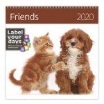 Friends - nástěnný kalendář 2020