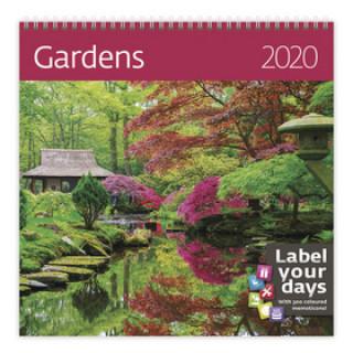 Gardens - nástěnný kalendář 2020