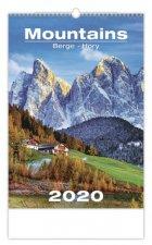 Mountains/Berge/Hory - nástěnný kalendář 2020