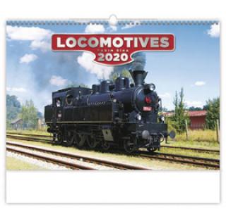 Locomotives - nástěnný kalendář 2020