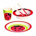 Beruška: Dětské nádobí z bambusu/set (5 dílů)