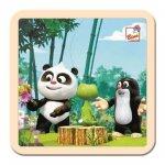 Krtek a Panda: V lese/puzzle, 4 dílky