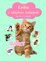 Kniha s nálepkami zvieratiek Mačky