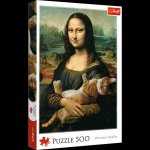 Puzzle Mona Lisa i kot Mruczek 500