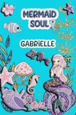 Mermaid Soul Gabrielle: Wide Ruled Composition Book Diary Lined Journal