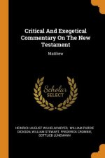 Critical and Exegetical Commentary on the New Testament