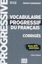 VOCABULAIRE PROGRESSIF FRANÇAIS CORRIGES