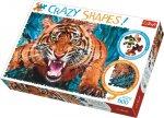 Crazy Shapes puzzle Útok tygra 600 dílků