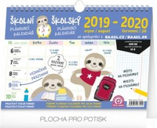 Školní plánovací kalendář s háčkem 2020