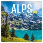 Poznámkový kalendář Alpy 2020