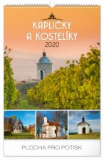 Nástěnný kalendář Kapličky a kostelíky 2020