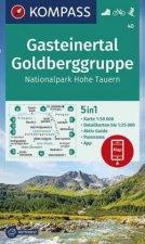 KOMPASS Wanderkarte Gasteinertal, Goldberggruppe, Nationalpark Hohe Tauern 1:50 000