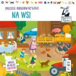 Kapitan Nauka Puzzle obserwacyjne Na wsi 4+ 54 elementy + plakat