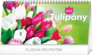 Stolový kalendár Tulipány riadkový 2020
