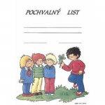 Pochvalný list : Děti a čtyřlístek /formát A4/