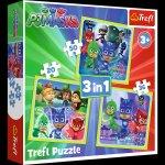 Puzzle 3w1 Pidżamersi Gotowi do działania