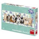 Puzzle 150 panoramic Psi a kočky