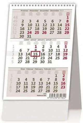 Mini tříměsíční kalendář/Mini trojmesačný kalendár - stolní kalendář 2020
