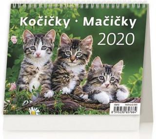 Minimax Kočičky/Mačičky - stolní kalendář 2020