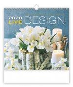 Live Design - nástěnný kalendář 2020