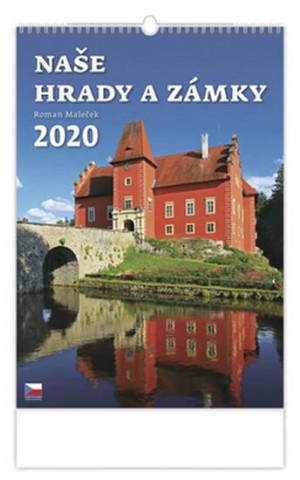Naše hrady a zámky - nástěnný kalendář 2020