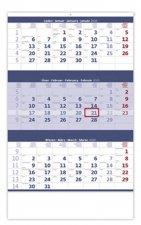 Tříměsíční modrý - nástěnný kalendář 2020
