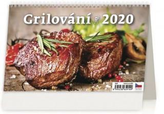 Grilování - stolní kalendář 2020