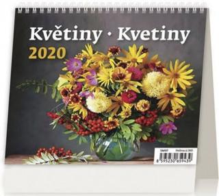 MiniMax Květiny/Kvetiny - stolní kalendář 2020