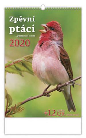 Zpěvní ptáci - nástěnný kalendář 2020