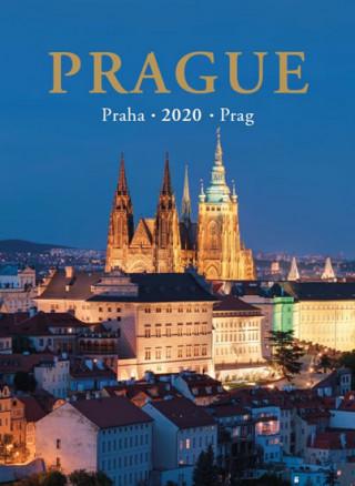 Kalendář nástěnný 2020 - Praha / Prague / Prag 24,5 x 34 cm