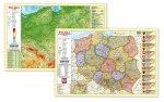 Polska fizyczno-administracyjna mapa - podkładka na biurko