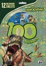 100 samolepek Dino