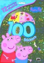 100 samolepek Peppa Pig