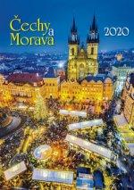 Čechy a Morava 2020 - nástěnný kalendář