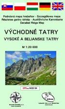 Východné Tatry - Vysoké a Belianske Tatry (mapa)