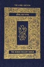 Koren Shalem Siddur with Tabs, Compact, Denim