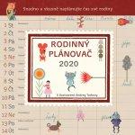 Rodinný plánovač - nástěnný kalendář 2020