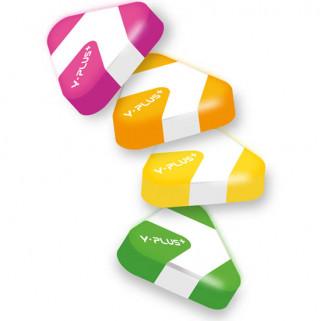 FLUO - pryž barevná trojhranná mix barev