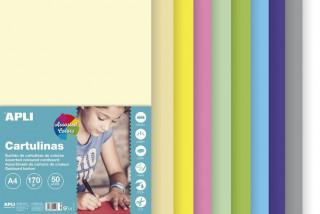 Barevný papír A4 170 g - mix pastelových barev 50 ks