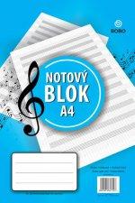 Notový blok, 25 listů