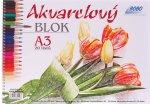 Akvarelový blok A3, čistý, 20 listů